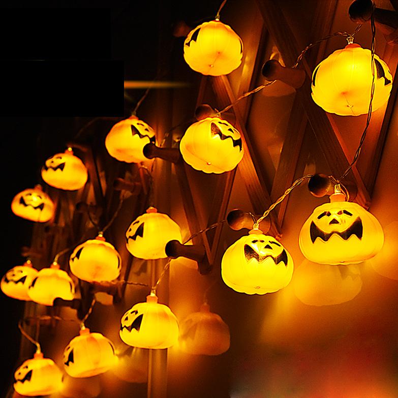 2.7M 16 LED Хэллоуин тыквы String Lights LED Fairy Lights для фестиваля Christmas Halloween