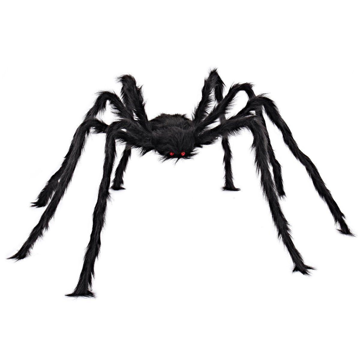 5FT / 150cm Волосатые гигантские украшения паук Огромный Хэллоуин На открытом воздухе Декоративные игрушки для вечеринки