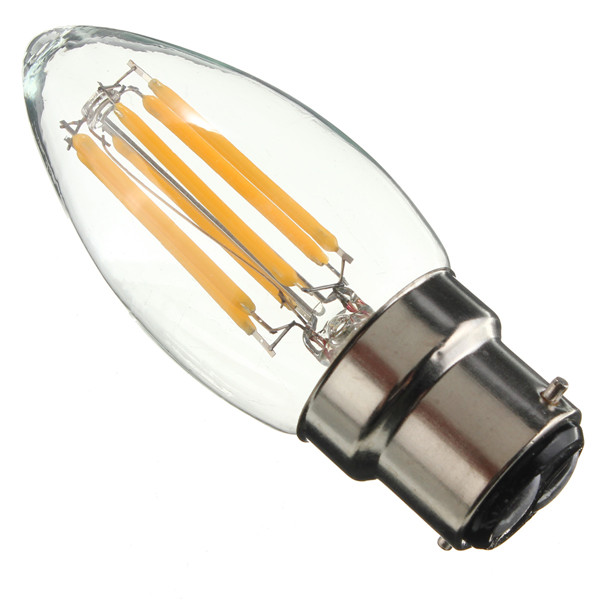 B22 C35 6W COB Filament Bulb Eison Vintage Candle Clear Glass Lamp Non- Dimmable AC 220V