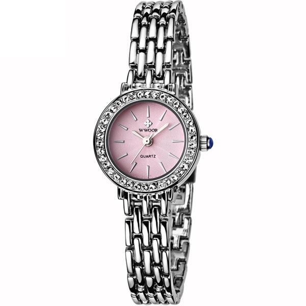 WWOOR 8810 Fashion Women Watch Elegant Rhinestones Dress Watch Casual Ladies Wrist Watch