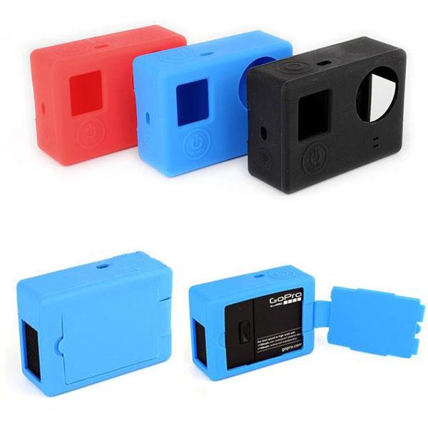 Мягкий силиконовый гель резиновый защитный чехол кожаный чехол для камеры gopro hero 3 плюс 4