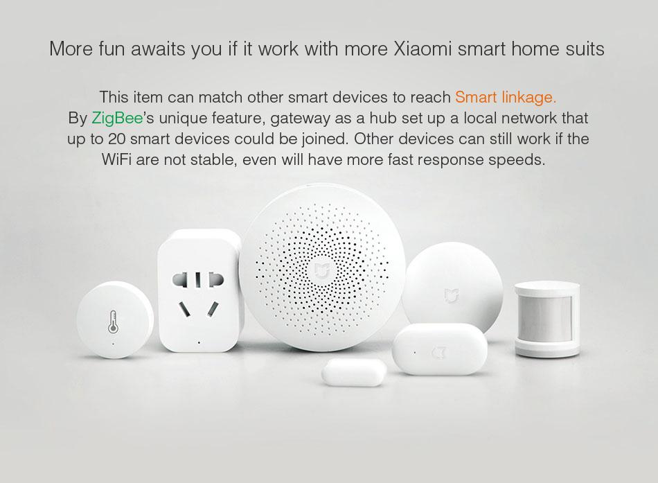 Original Xiaomi Mijia Upgrade Version Smart Home WiFi Remote Control  Multifunctional Gateway Work with Smart Sensor Kit