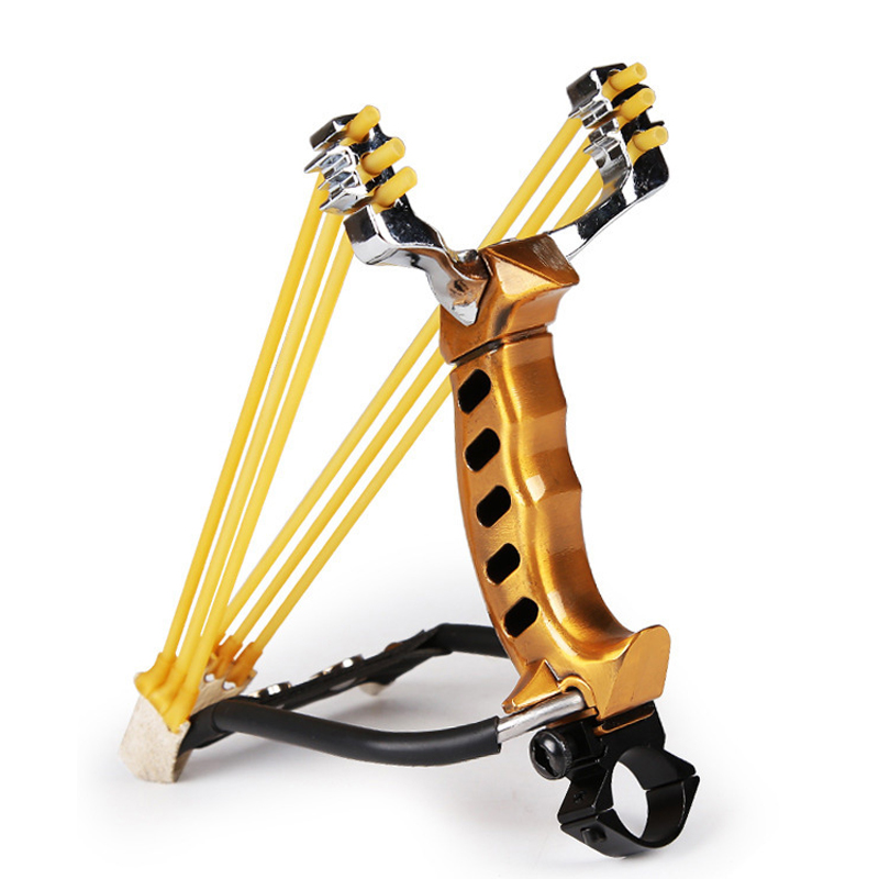 IPRee® Tactical Stainless Steel Slingshot Rubber Band Catapult Outdoor Camping Hunting Bow