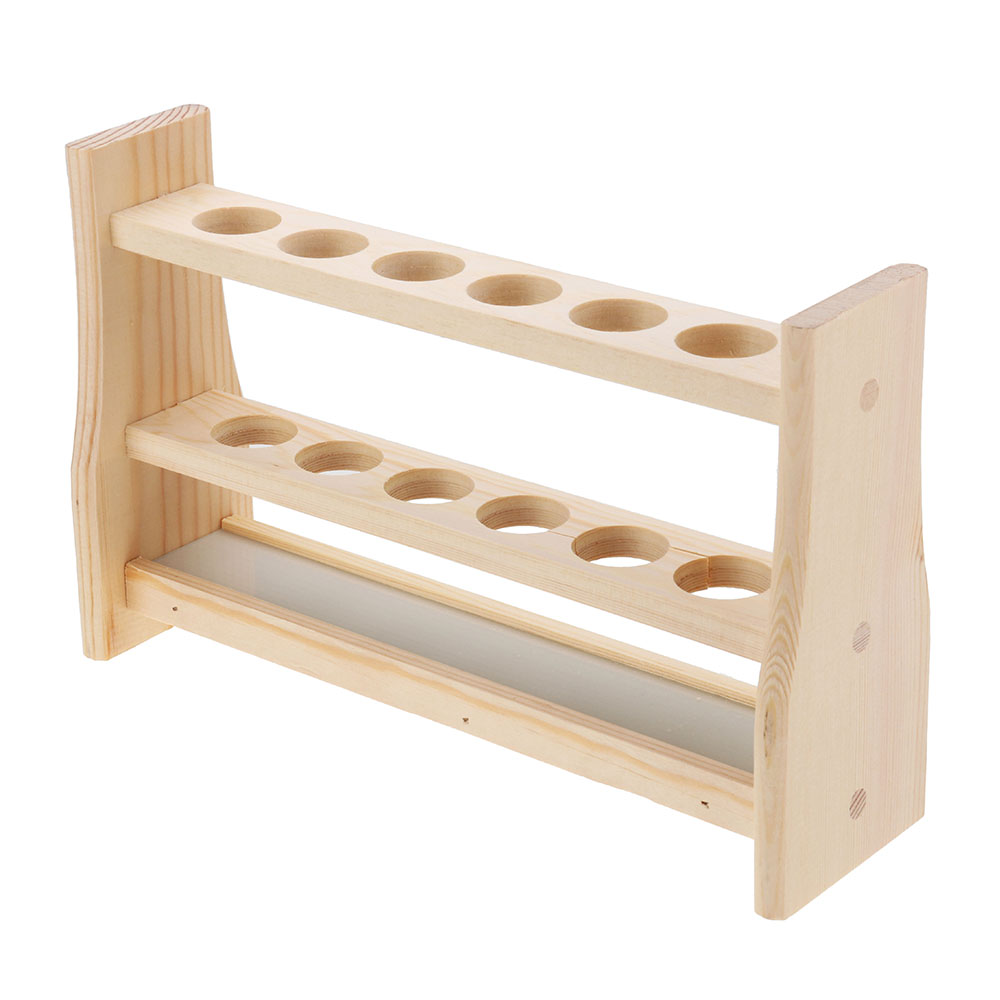 6 Holes Test Tube Rack Testing Tubes Clip Holder Stand Dropper Wood Lab Supplies 6 Hole diameter 25mm