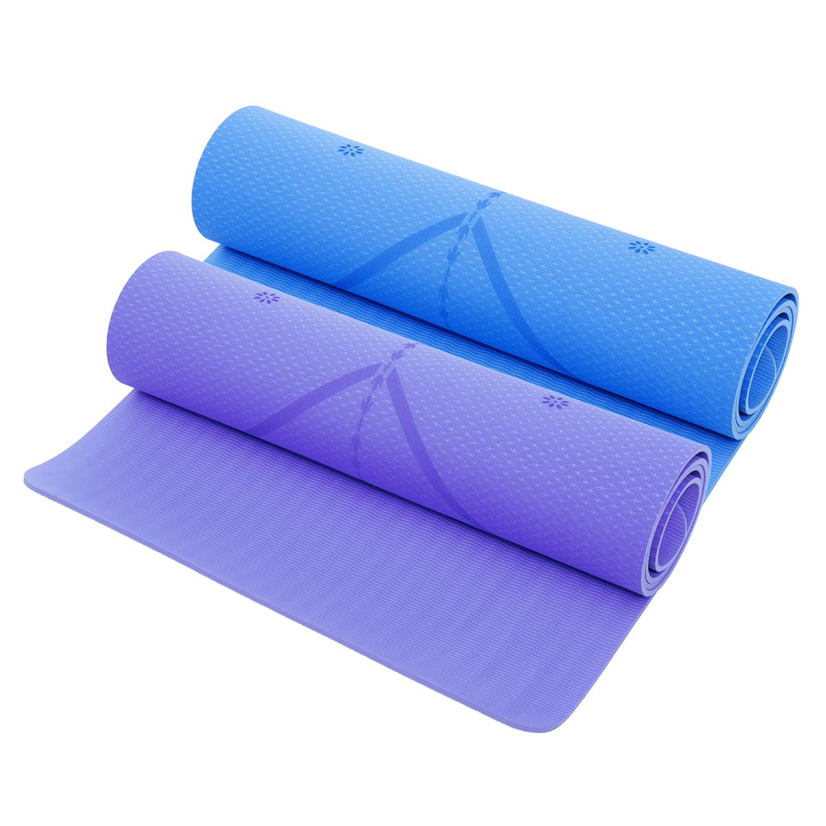 TPE Large Yoga Mat Exercise Fitness Gymnastics &