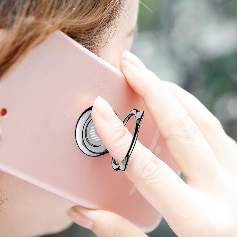 Baseus Кот Уши Портативный металлический брелок для крепления пальца Держатель для мобильного телефона для iPhone Samsung Xiaomi