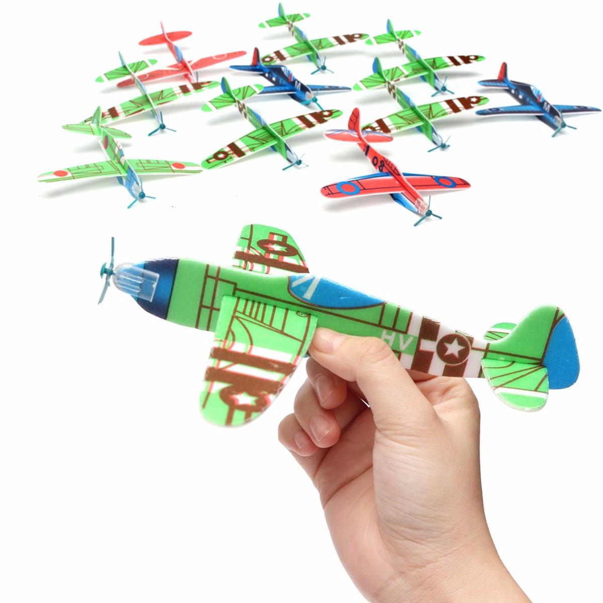 10Pcs Banggood Flying Glider Plane Toy Gift Birthday Christmas Party Сумка Filler