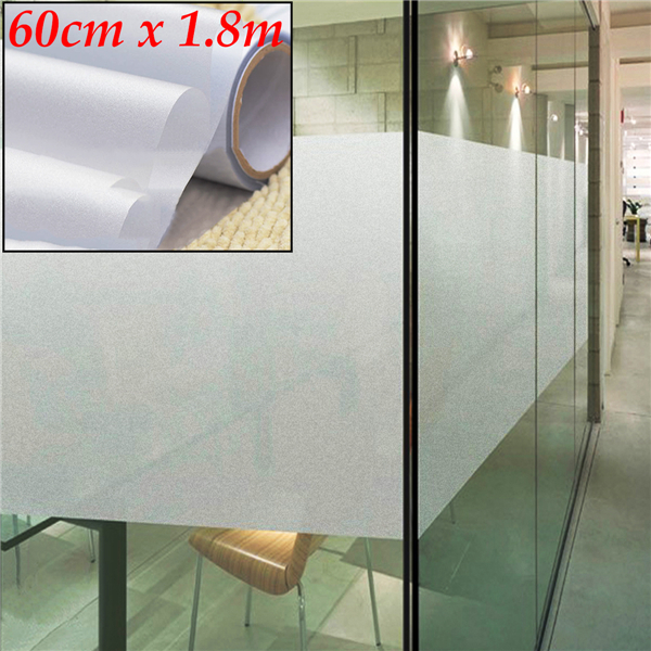 60cm 1 8m Frosted Window Tint Glass Privacy Pvc Film For Diy Home Office Store