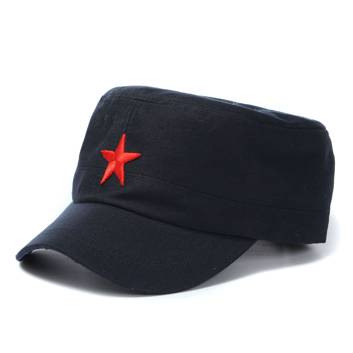 77834597 unisex red star cotton army cadet military cap at Banggood
