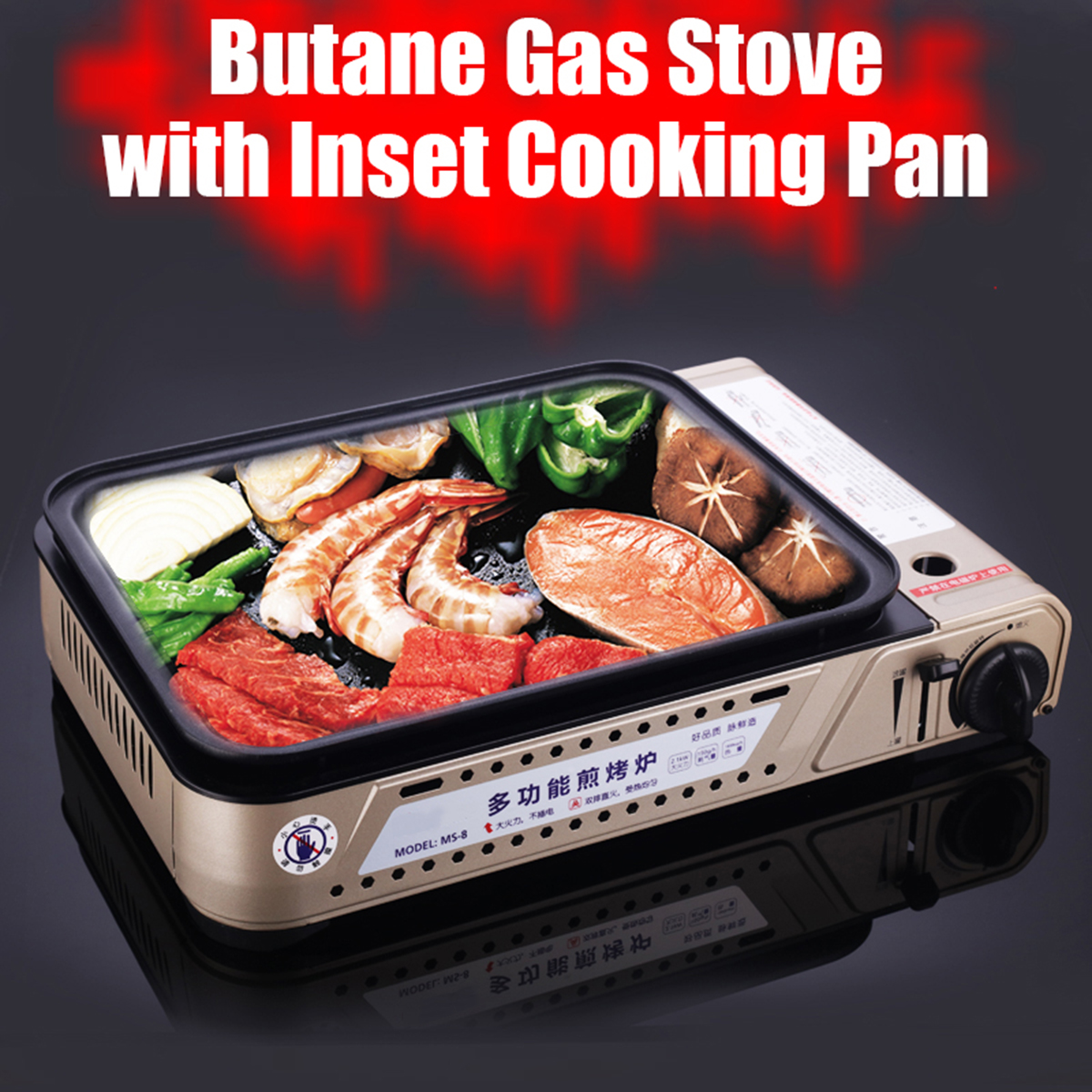 Cool Portable Gas Butane Grill Bbq Grill Pan Stove Set Non Stick Cooking Burner Pan Outdoor Interior Design Ideas Clesiryabchikinfo