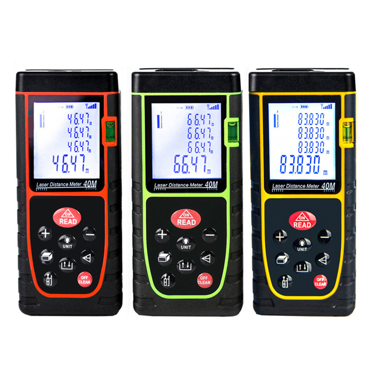 Portable Handheld Digital Laser Point Distance Meter Range Finder Measure Tape One Button Operation High Accuracy