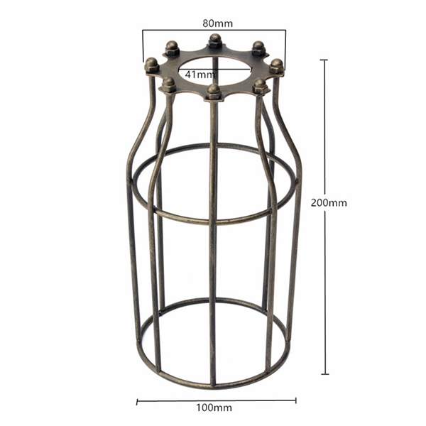 200mm diy vintage pendant trouble light bulb guard wire cage ceiling hanging lampshade sale