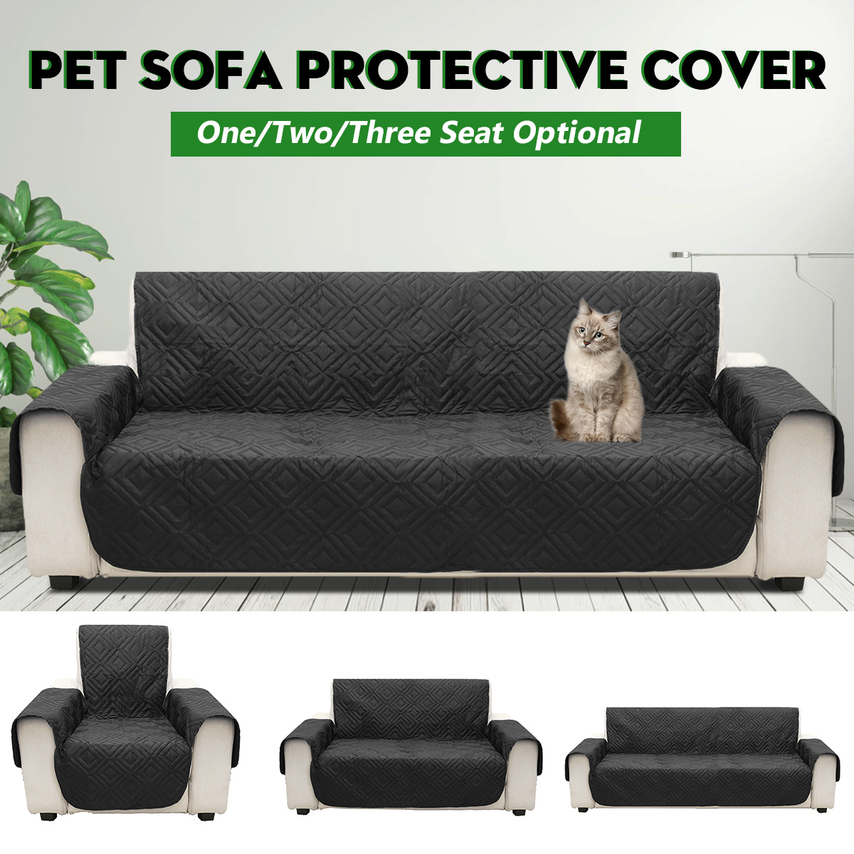 Amazing Black Microfiber Pet Dog Kids Couch Sofa Furniture Protector Cover Strap Waterproof Chair Covers Cjindustries Chair Design For Home Cjindustriesco