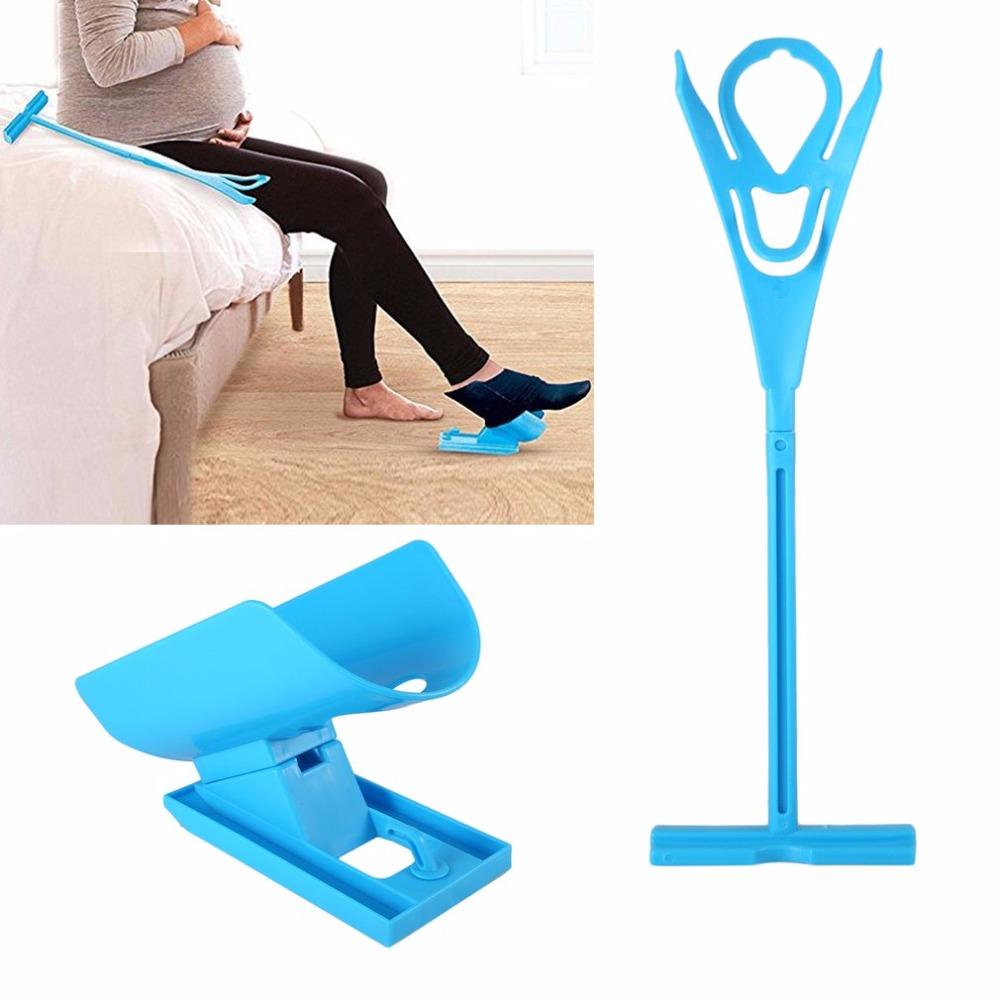 Easy On Off Sock Aid Набор Носок-помощник Нет Изгибающая растяжка для беременных и травм Жизнь Инструмент