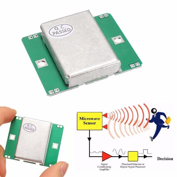 HB100 Sensor Module 10 525GHz Doppler Radar Motion Detector 40mA For Arduino