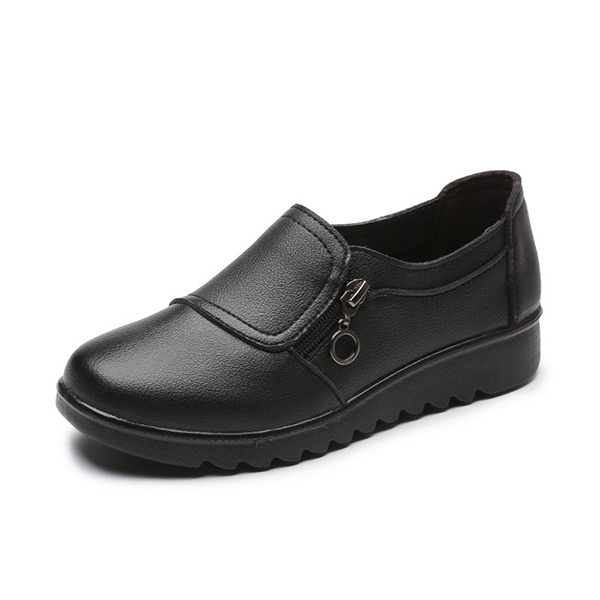 Women-Casual-Leather-Slip-On-Outdoor-Flat-Loafers thumbnail 3