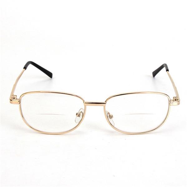 Металлическая рама окантовкой комфортно бифокальные дальнозоркостью усталость снимают очки для чтения прочности 1.0 1.5 2.0 2.5 3.0