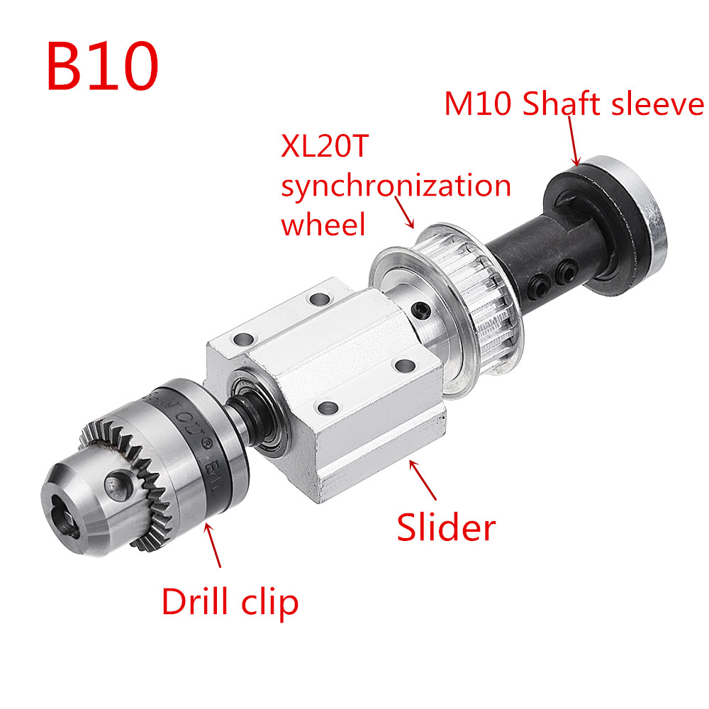 Machifit No Power Spindle Assembly Small Lathe Accessories Trimming Belt JTO/B10/B12/B16 Drill Chuck Set