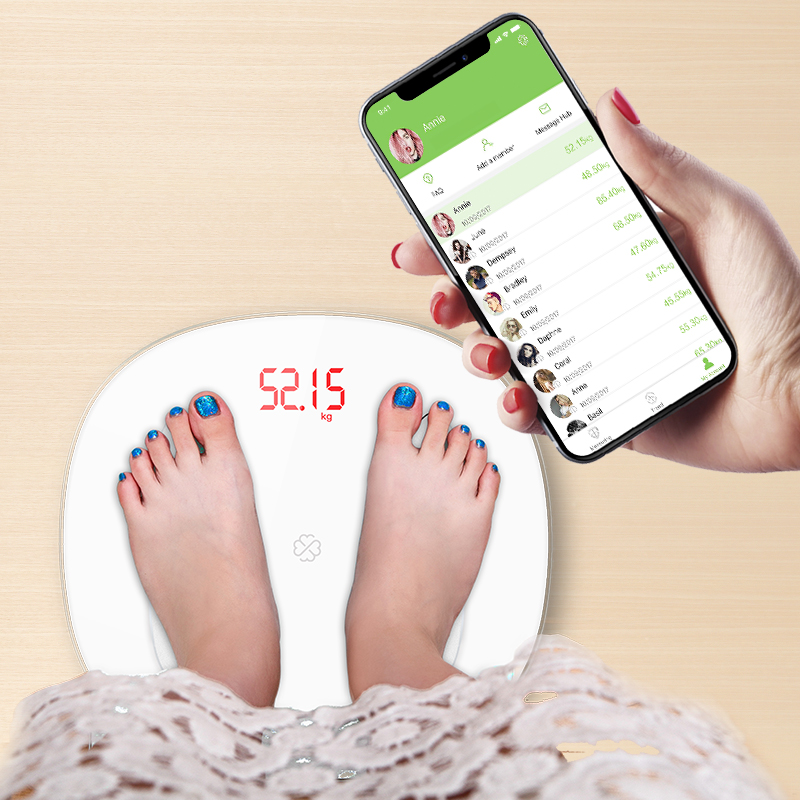 GASON S6 Electronic Digital Scale 13 Languages High Precision Weight Scale Smart LED Digital Weight Scale Support For bluetooth APP Android or IOS