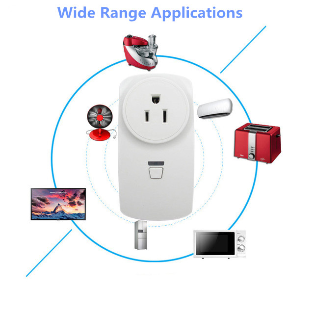 220V 23A Wireless Plug-In Power Socket Timer Switch Outlet Receiver With  Remote Control