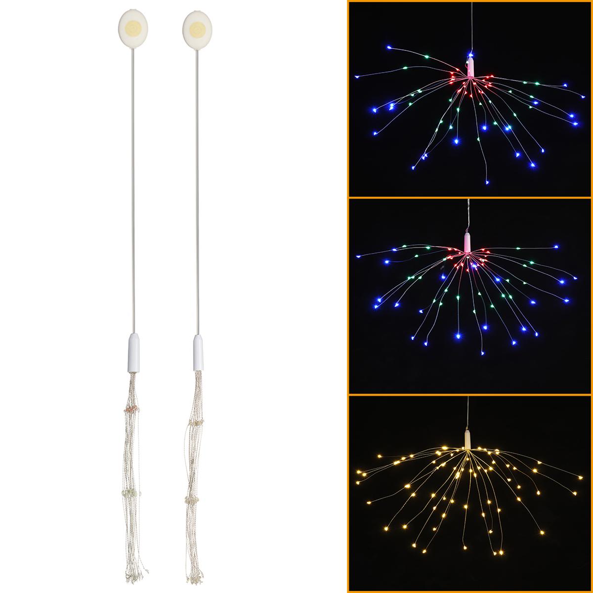 Кнопка Батарея Поставка 3 Режимы DIY LED Фейерверк Фея String Light Christmas Party Decor