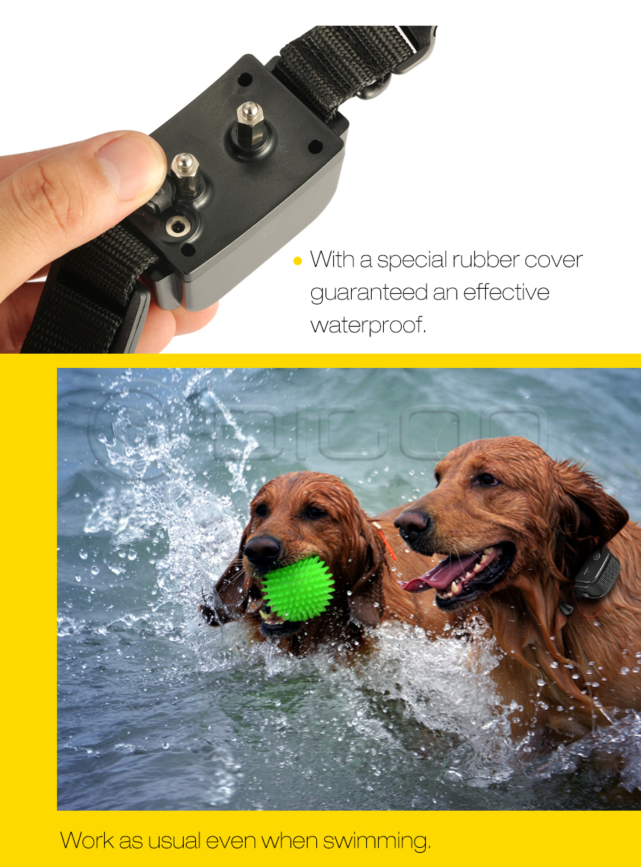 Digoo DG-PPT1 Pet Dog Rechargeable Trainer Waterproof Stop Barking Collars Remote Dog Training Collar