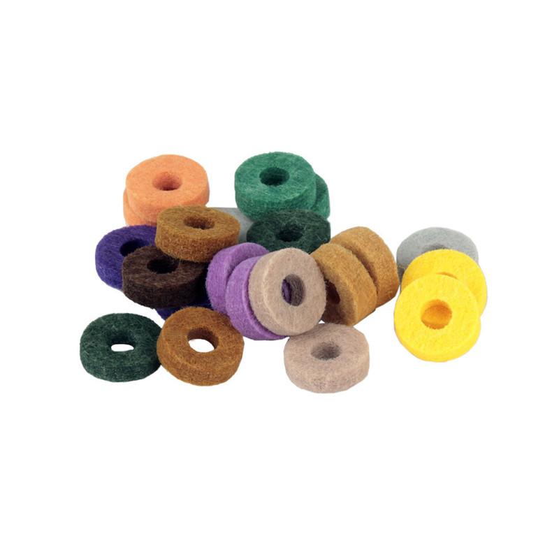 20Pcs Drum Набор Colorful Эффект защиты плетеной подушки тарелки для ударных ударных