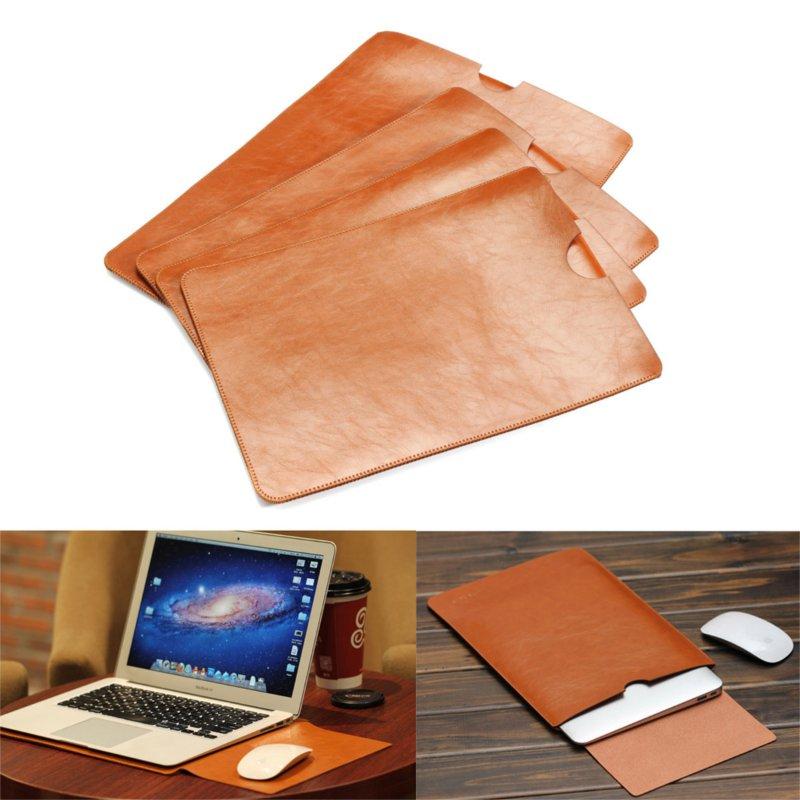 Крышка случая PU кожаная сумка для MacBook 11 12 13 15 дюймов