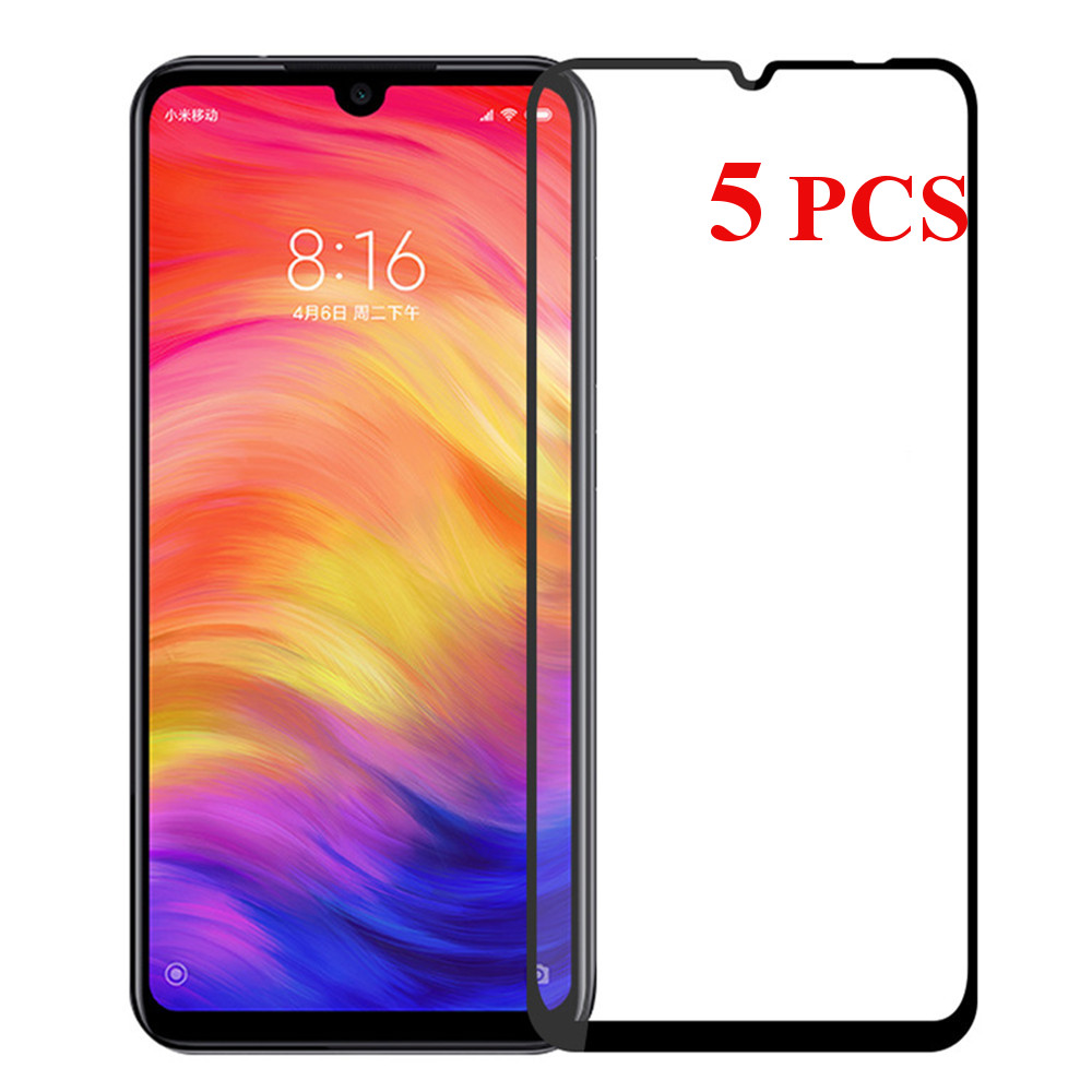 5PCS Bakeey Anti-explosion HD Clear Full Cover Tempered Glass Screen Protector for Xiaomi Redmi Note 7 /Redmi Note 7 Pro