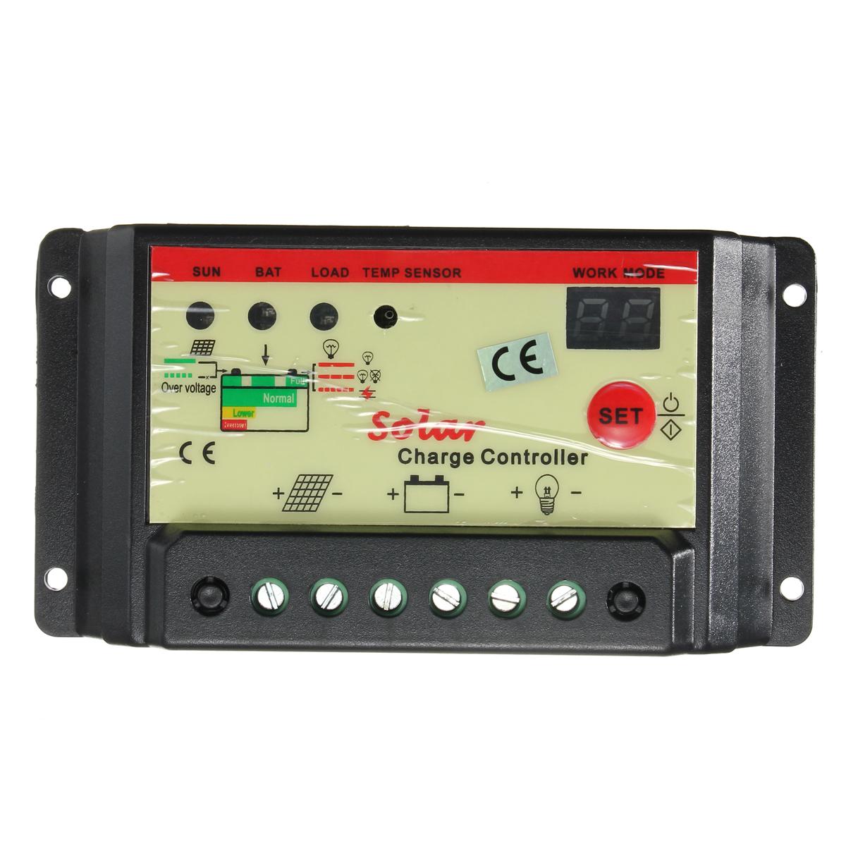 10а 12v 24v регулятор панель солнечной батареи контроллер заряда автоматический переключатель
