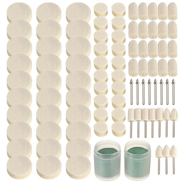90pcs Rotary Tool Accessories Set Kit Felt Polishing Wheel Grinding Sanding Tool