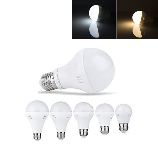 E27 3W 5W 7W 9W 12W Тепло-белая Чисто-белая LED Глобальная лампа лампочка AC220V