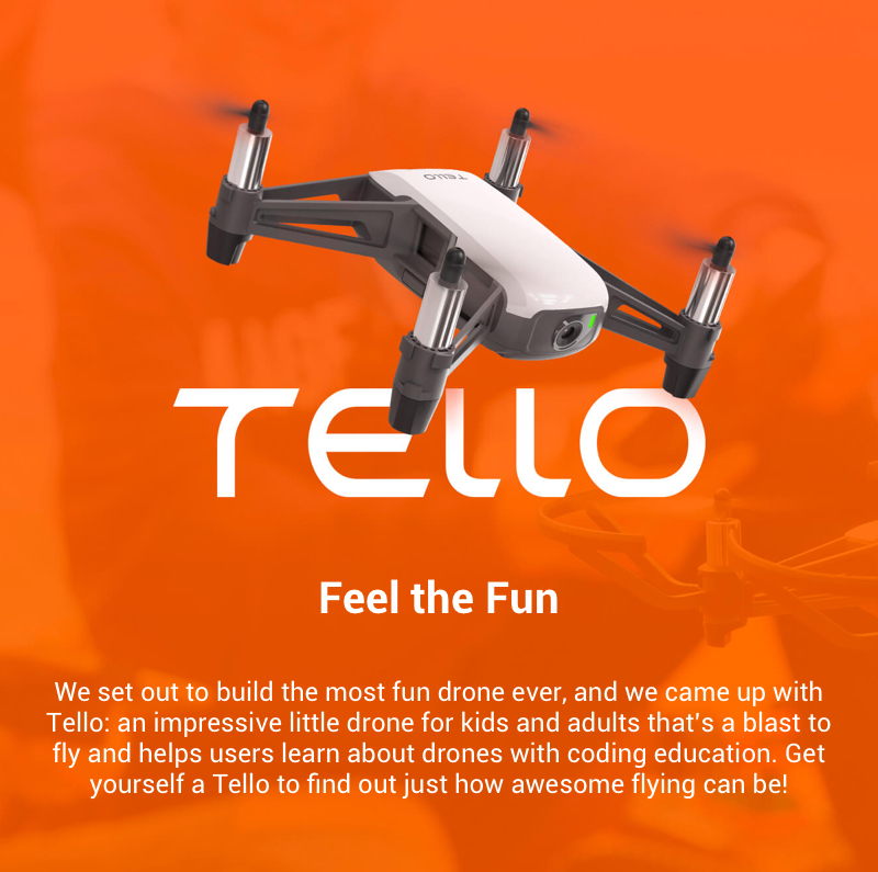 DJI Tello with 5MP HD Camera 720P WiFi FPV Drone BNF Boost Fly More Combo 8D Flips STEM Coding