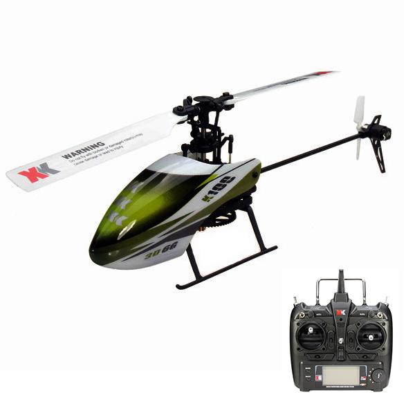 XK K100 Falcom 6CH Flybarless 3D6G System RC Helicopter RTF