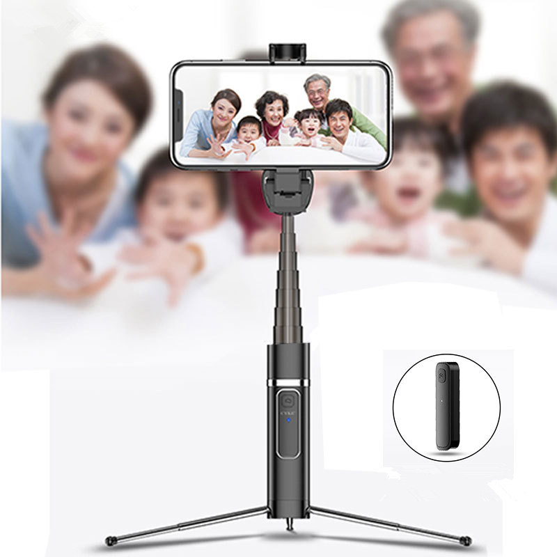 Bakeey Mini Foldable Extended bluetooth Remote Tripod V