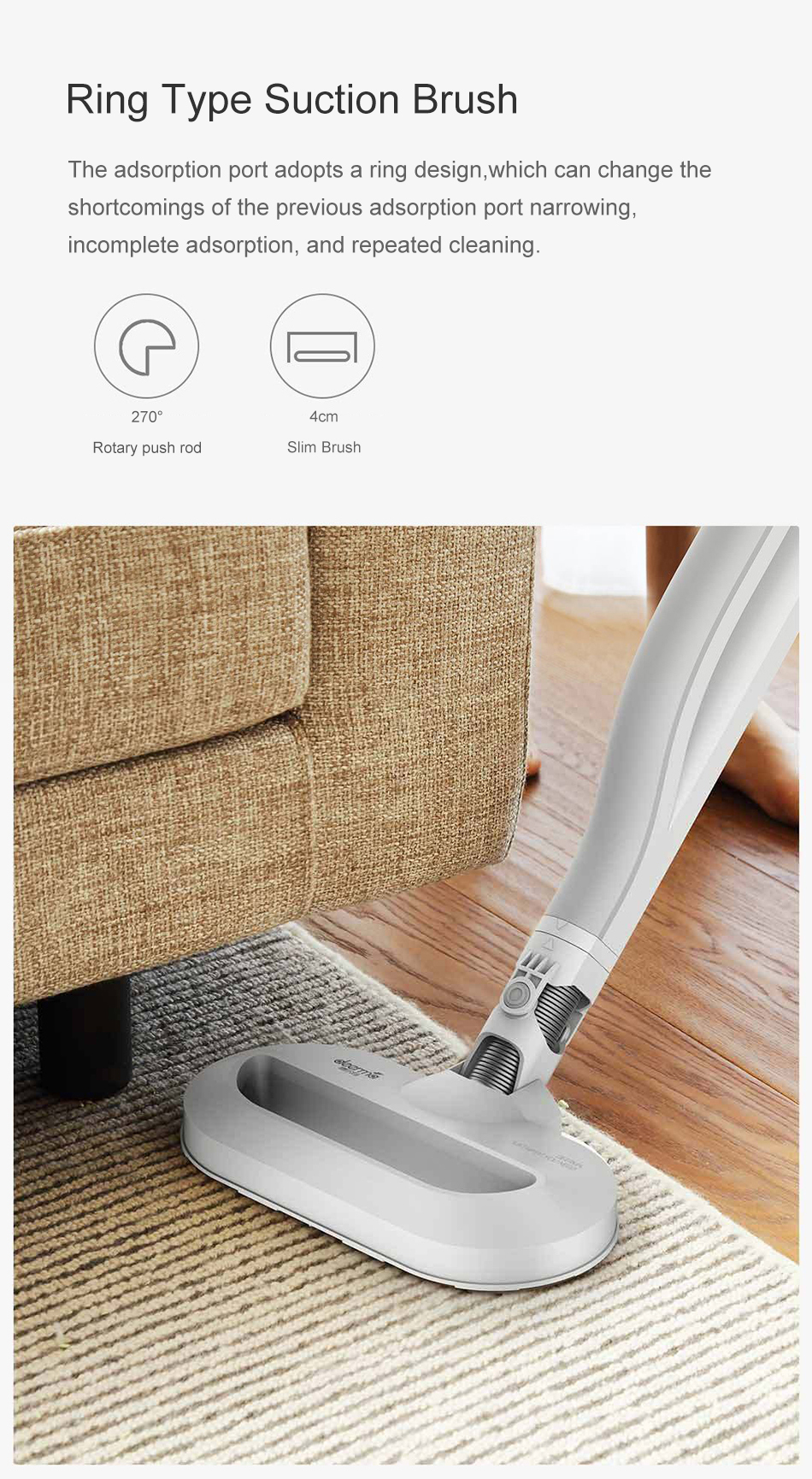Deerma DX800S Back-carrying Stick Vacuum Handheld Cleaner Handheld Dust Collector from XIAOMI Youpin