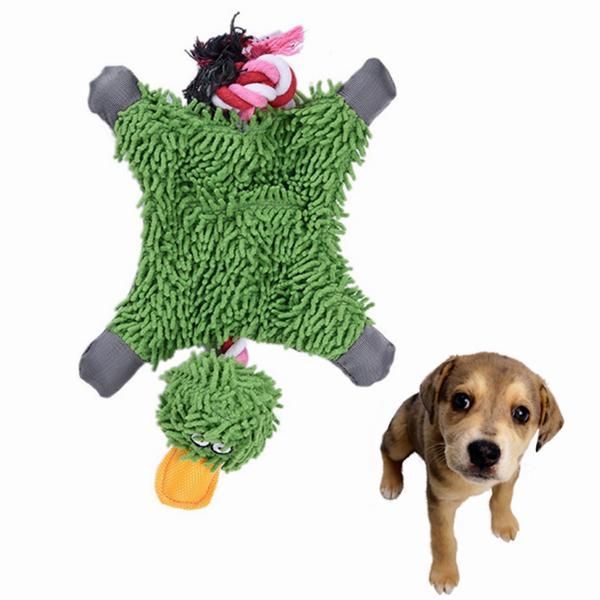 Pet Dog узел Игрушка Cute Papa Дак Плюшевые игрушки Chew Прочные веревочные игрушки зоотоваров