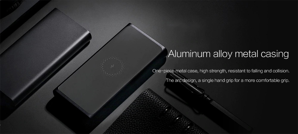 Xiaomi PLM11ZM Power Bank 10000mAh Fast Wireless Charger with USB Type C for Mobile Phone