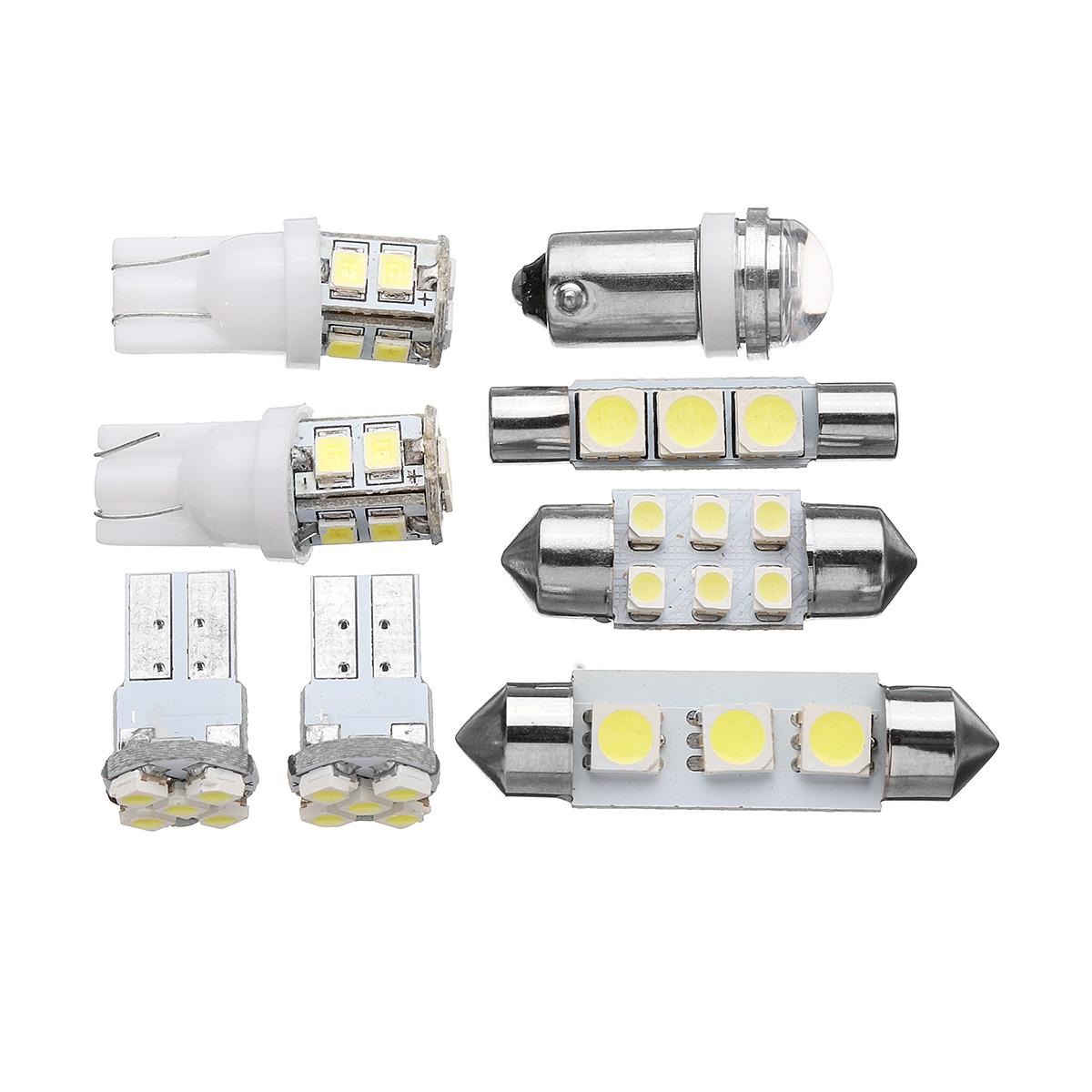 8Pcs 1156 T10 Girlande LED Car Interior Dome Map Lights Kennzeichenbeleuchtung Lampe Satz Weiß
