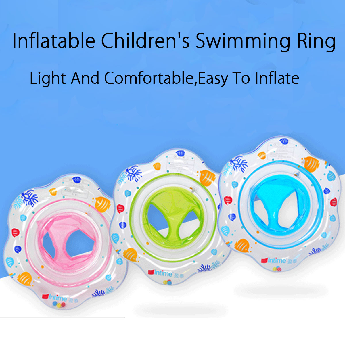 53ddc751b baby kids swim ring inflatable infant float swimming pool water seat ...