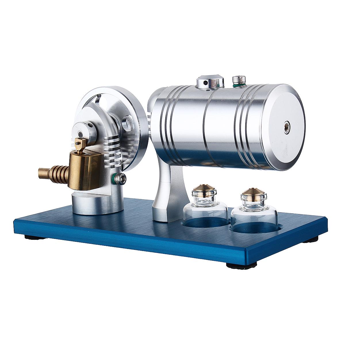 SaiDi STEM Dampfmaschine + Heizkessel + Alkohollampe Wissenschaftsspielzeug