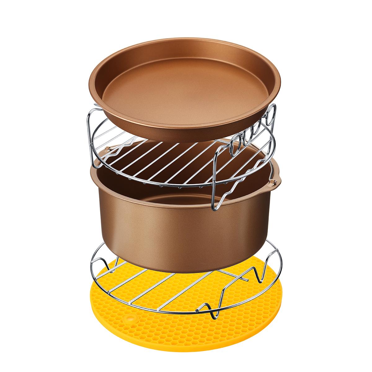 5Pcs8''Комплектдляфритюрницы для кондитерских изделий Пирог для пиццы Барбекю для жарки