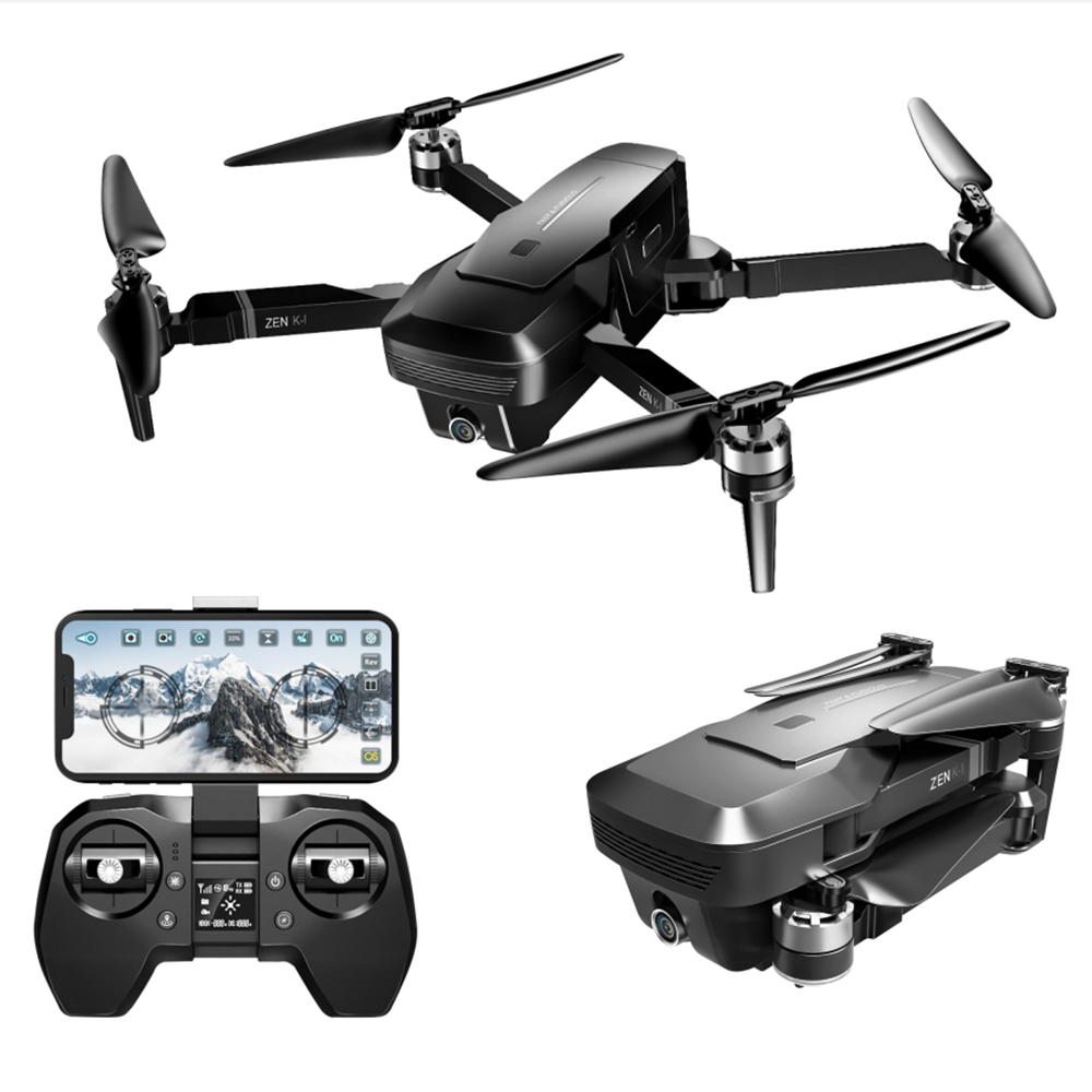 VISUO ZEN K1 5G WIFI FPV GPS With 4K HD Dual Camera Brushless Foldable RC Drone Quadcopter