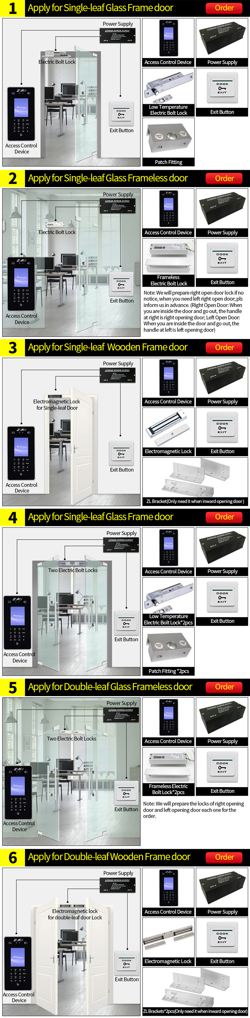 ZOKO ZK-FA30 Face Password Recognition Time Attendance Machine Access  Control System with Dual HD Camera