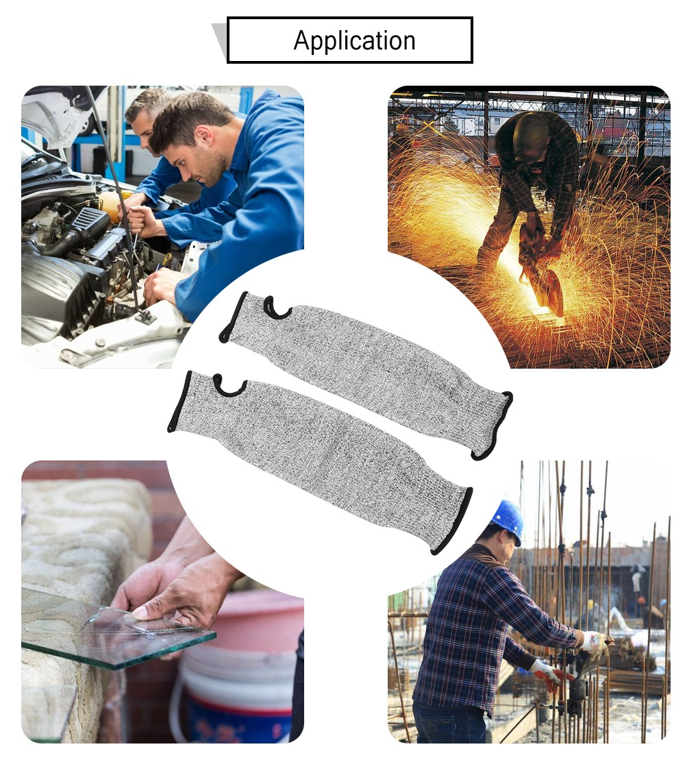 1 / 2 Pcs Level 5 Anti-cutting Standards Cut-resistant Armband Flexible  Anti Abrasion HPPE Wear-Resistant Working Safety Sleeve Arm Guard Sleeves  Cut