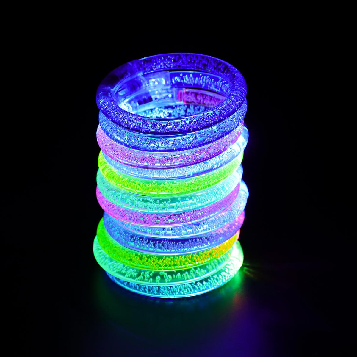 12 шт. / Лот светящийся браслет ну вечеринку игрушка украшения на день рождения 6 цветов