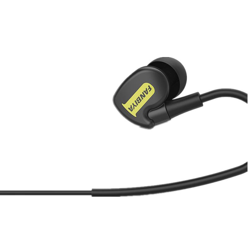 Fanbiya 3.5mm Wired Control Наушник Стереофонические наушники для наушников с микрофоном