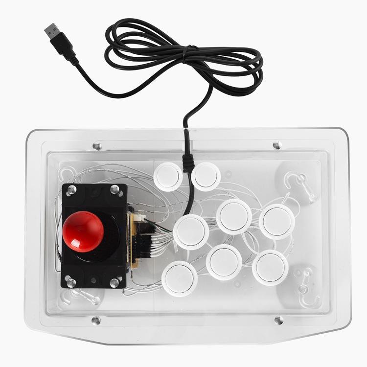 Прозрачный джойстик Fighter Tower USB Компьютерное ТВ Коробка Аркадный игровой контроллер Rocker