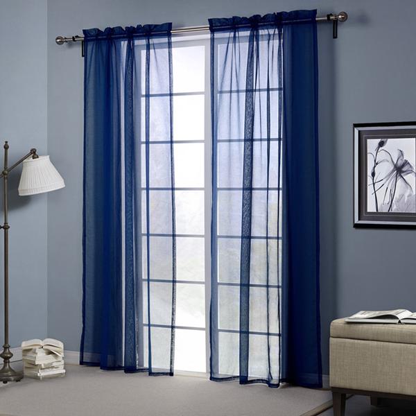 Темно-синий стиль европы пробивки отвесный занавес балкон спальня декор экран окна гостиной
