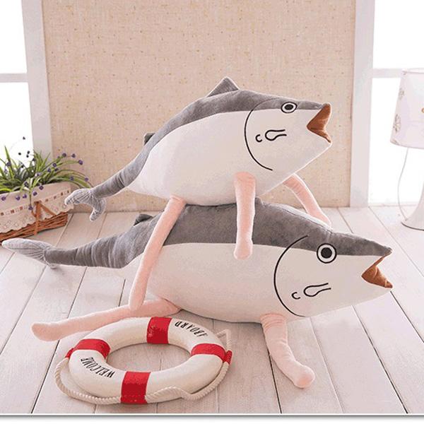 Creative Cute Cartoon Soft Lovely Simulation Salted fish Shaped Pillow Kids Plush Gift Cushion